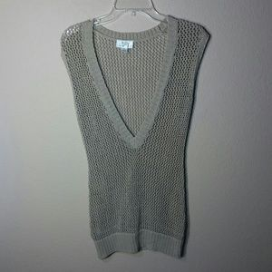 AT Tan Crochet Vest